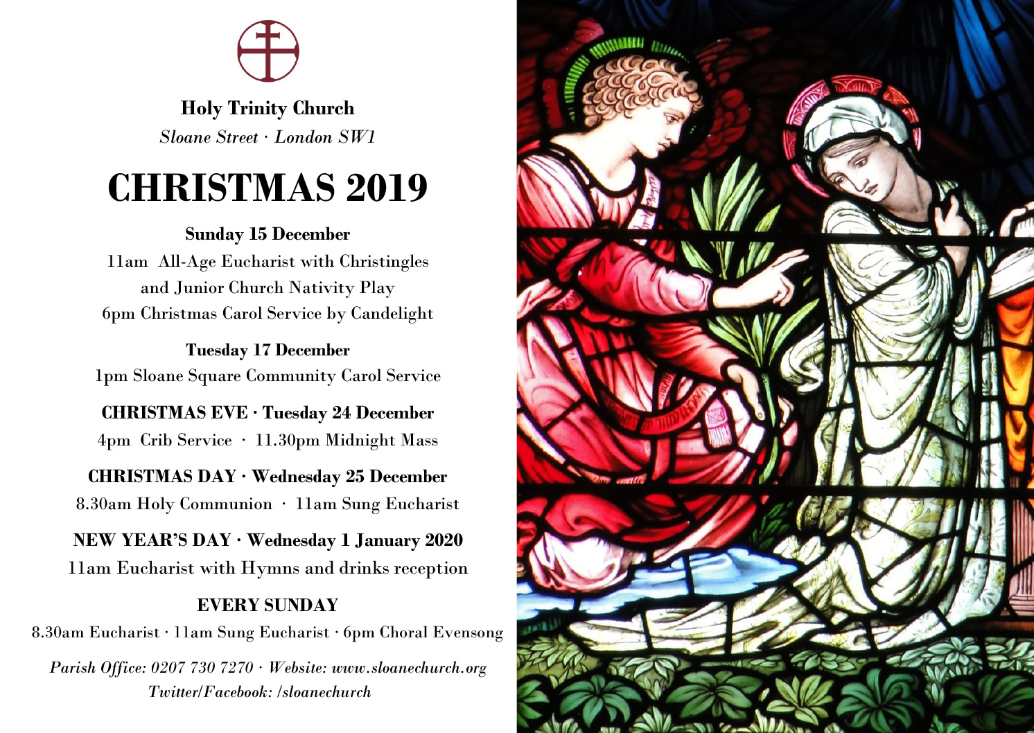 Holy Trinity Sloane Square Christmas Services 2019